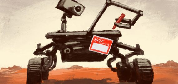 Who names NASA's Mars rovers?