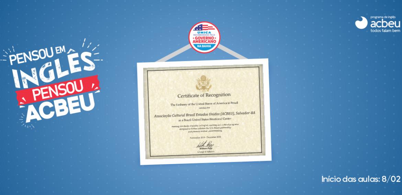 ACBEU   Certificado de Excelência