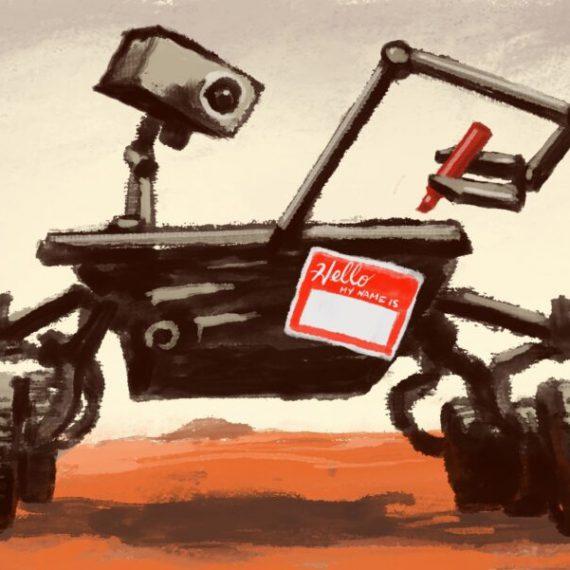 Who names NASA's Mars rovers?